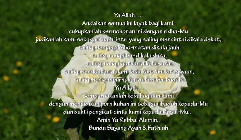 Ucapan Pernikahan Islami Bijak