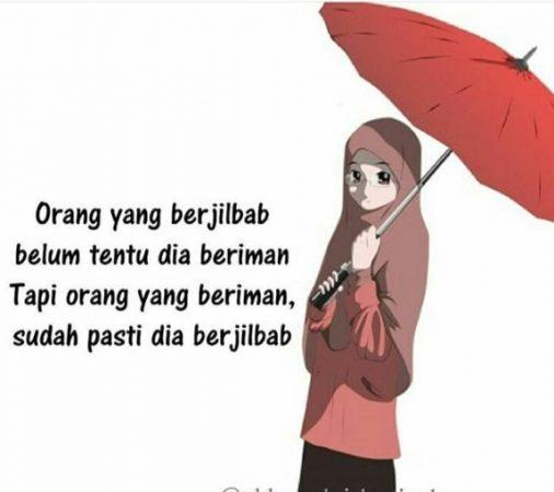 Gambar Kartun Muslimah Anime Hijab Keren Ideku Unik