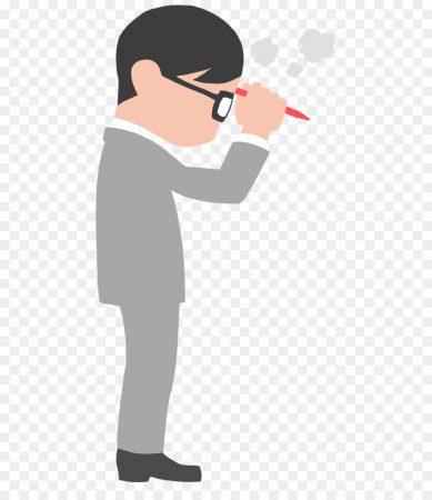 Gambar Kartun Orang Berdiri Pakai Pensil