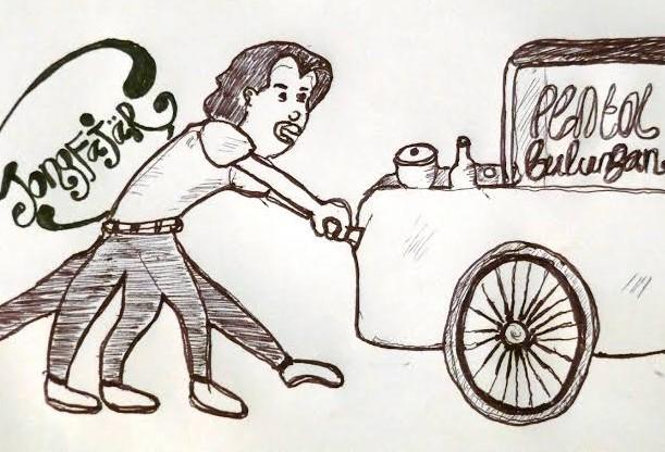 Gambar Kartun Pedagang Asongan