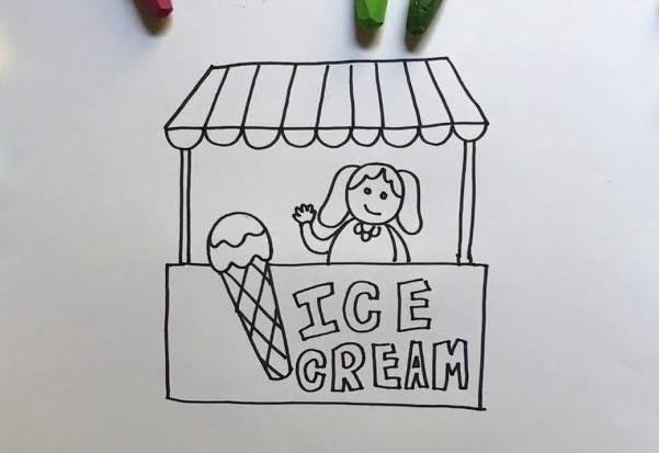Gambar Kartun Pedagang Es