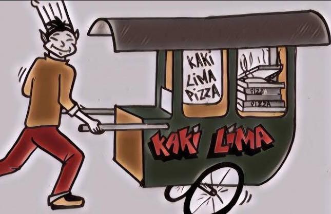 Gambar Kartun Pedagang Kaki Lima