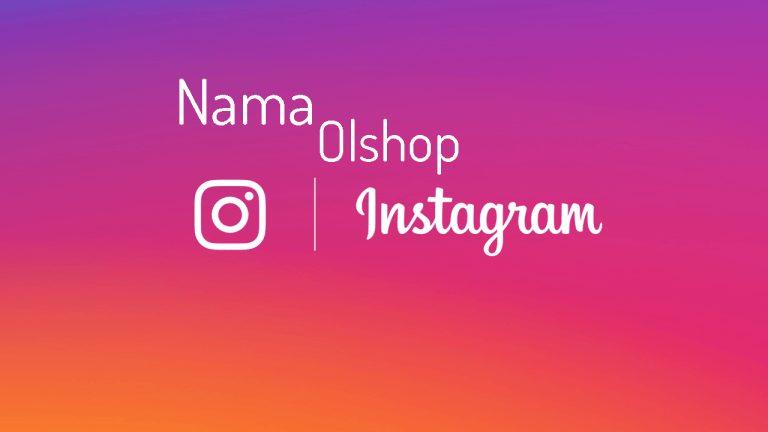 Nama Olshop di Instagram dan Belum Dipakai