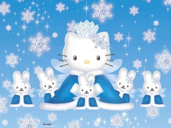 Gambar Hello Kitty Biru