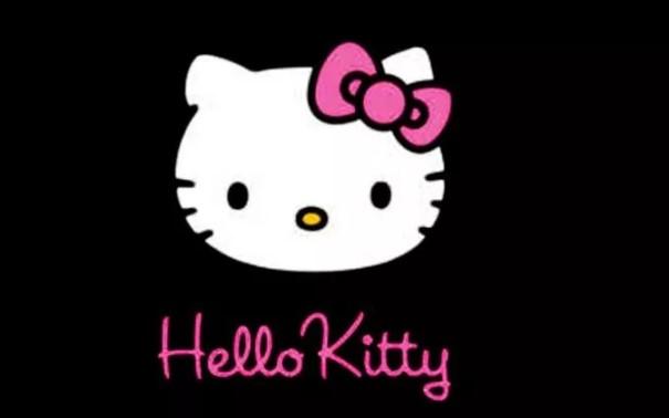 Gambar Hello Kitty Hitam
