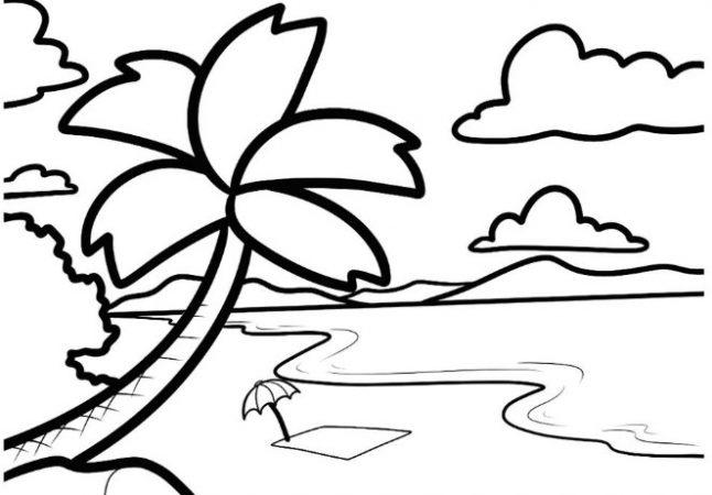 Gambar Sketsa Laut yang Mudah Dibuat