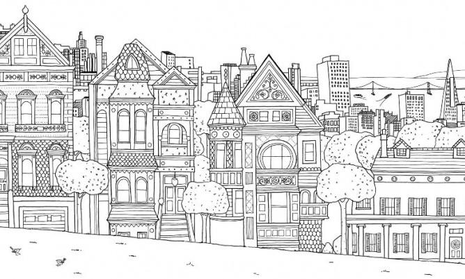 Sketsa Pemandangan Kota