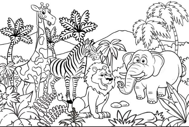 Sketsa Suasana Kebun Binatang