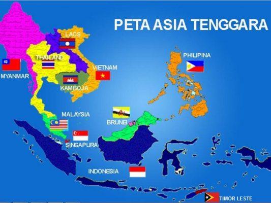 Peta Negara Asia Tenggara